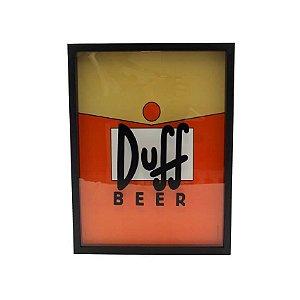 Quadro Porta Tampinha Simpsons Duff Beer - 32x42cm