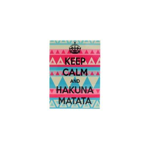 Placa Keep Calm And Hakuna Matata