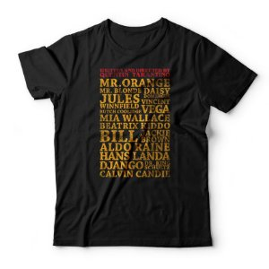 Camiseta Tarantino Personagens