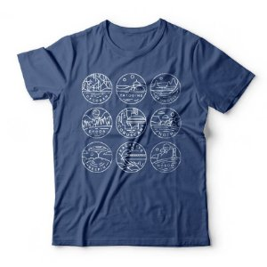 Camiseta Star Wars Planetas
