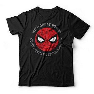 Camiseta Homem Aranha Grandes Responsabilidades