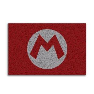 Capacho Vinil Mario Logo