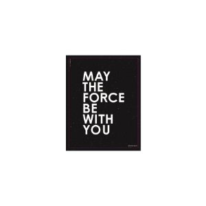 Placa May The Force Be With You