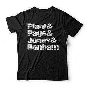 Camiseta Led Zeppelin Nomes