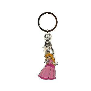 Chaveiro de Metal Princesa Peach