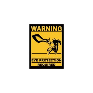 Placa Eye Protection Required