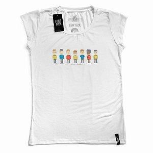 Camiseta Feminina Star Trek Pixels