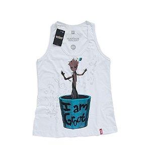 Camiseta Feminina Guardiões da Galáxia Baby Groot