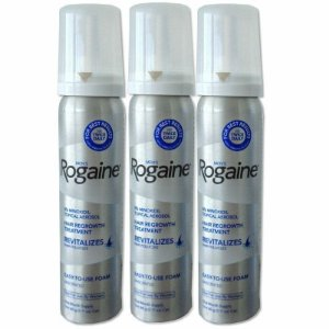 Rogaine Foam - Espuma - Original - 3 unidades.