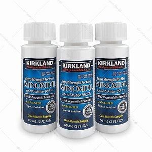 Minoxidil 5% Kirkland Força Extra - Tratamento para 3 meses - Produto original. Sem aplicador conta-gotas.