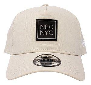 Boné New Era 9Forty A-Frame NEC NYC Bege Snapback