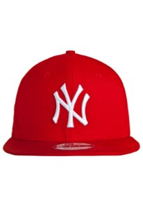Boné New Era 9Fifty MLB New York Yankees Vermelho Snapback