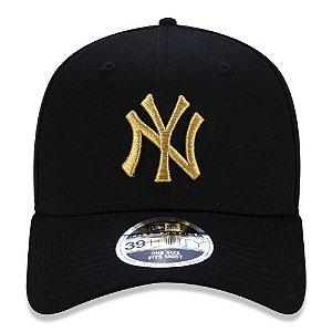 Boné New Era 39Thirty MLB New York Yankees Black/Gold