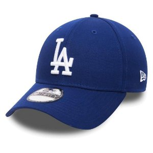 Boné New Era 39Thirty MLB Los Angeles Dodgers Azul Aba Curva