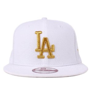Boné New Era 9Fifty MLB LA Dodgers White/Gold Snapback