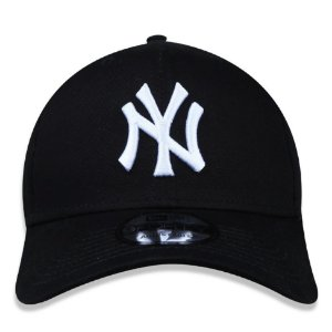 Boné New Era 9Forty New York Yankees Preto Snapback Aba Curva