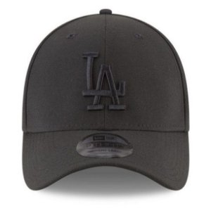 Boné New Era 39Thirty Los Angeles Dodgers Blackout Aba Curva
