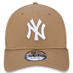 Boné New Era 9Forty New York Yankees Kaki Snapback Aba Curva