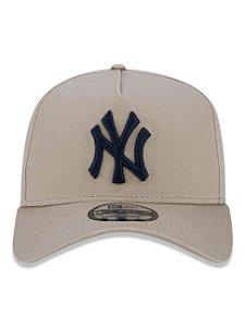 Boné New Era 9Forty NY Yankees A-Frame Bege Snapback