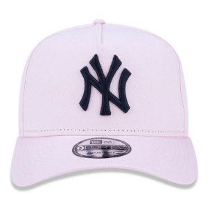Boné New Era 9Forty New York Yankees A-Frame Rosa Snapback Aba Curva