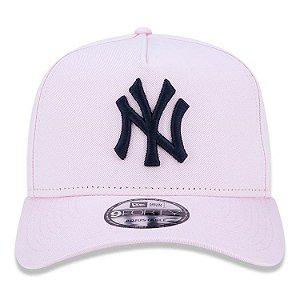 cce9b15aadc68 Boné New Era 9Forty New York Yankees A-Frame Rosa Snapback Aba Curva