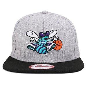 Boné New Era 9Fifty NBA Charlotte Hornets Heath Gray Original Fit Snapback