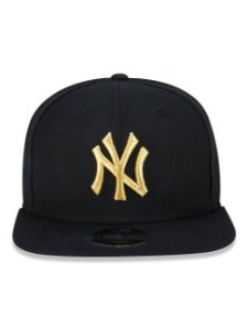 Boné New Era 9Fifty New York Yankees Black/Gold Original Fit Snapback