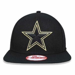 Boné New Era 9Fifty Dallas Cowboys Black/Gold Original Fit Snapback