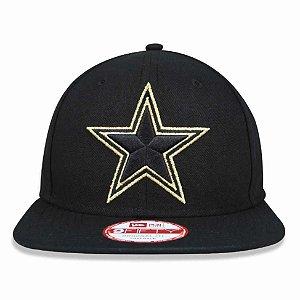 Boné New Era 9Fifty Dallas Cowboys Black/Gold Original Fit Snapback