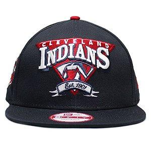 Boné New Era 9Fifty MLB Cleveland Indians Team Angle Snapback