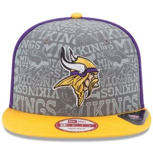 Boné New Era 9Fifty Minnesota Vikings Draft Reflective Snapback