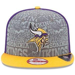 Boné New Era 9Fifty Minnesota Vikings Draft Reflective Snapback