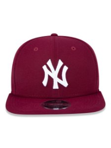 Boné New Era 9Fifty New York Yankees Vinho Original Fit Snapback