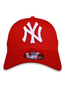 Boné New Era 39Thirty MLB New York Yankees Vermelho