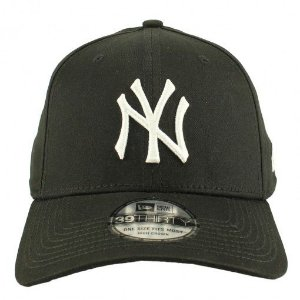 Boné New Era 39Thirty MLB New York Yankees Preto/Branco High Profile