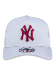 Boné New Era 9Forty New York Yankees A-Frame Cinza Snapback Aba Curva