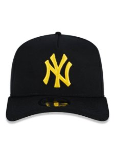 Boné New Era 9Forty New York Yankees Black/Gold Ajustável