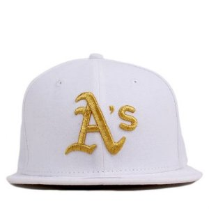 Boné New Era 9Fifty MLB Oakland Athletics White/Gold Juvenil