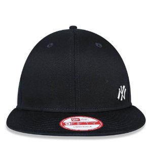 Boné New Era 9Fifty NY Yankees Flawless Metal Preto Snapback
