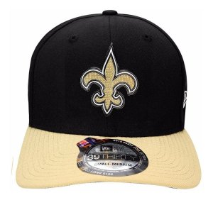 Boné New Era 39Thirty NFL New Orleans Saints Draft Black S/M