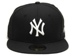 Boné New Era 59Fifty New York Yankees Black/White Fitted