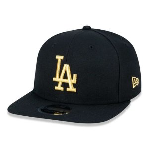 Boné New Era 9Fifty LA Dodgers Black/Gold Snapback Slim Fit