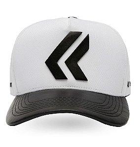 Boné Lurk Branded Aba Curva Snapback Ajustável White/Black