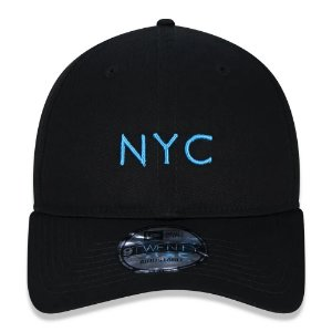 Boné New Era 9Twenty NYC New York City Black Strapback