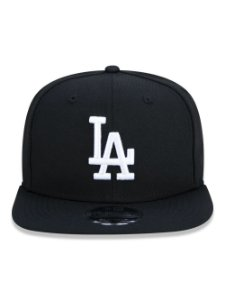 Boné New Era 9Fifty Los Angeles Dodgers Black/White Snapback