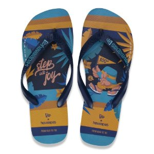 Chinelo Havaianas 100 Anos Blue New Era Step Into Joy
