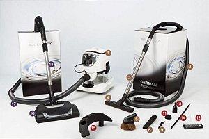 Sistema de Limpeza Multifuncional Smartcleaner Vivenso Base + Kit Pratik + Escova Elétrica