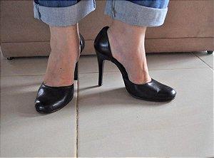Sapato Preto Bico Redondo