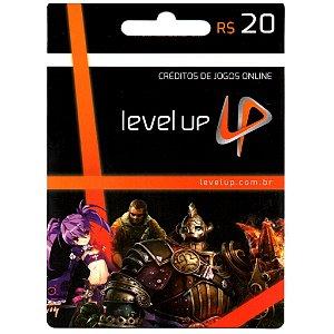 Cartão Presente Level Up - Crédito de 20 reais