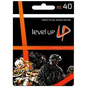 Cartão Presente Level Up - Crédito de 40 reais